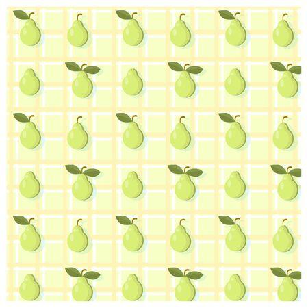 Vector pattern of a set of lemons symmetrically arranged