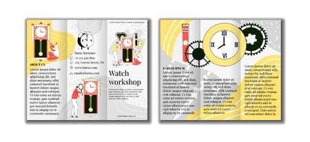 Vector illustration of layout, template a brochure Stockfoto - 148938650