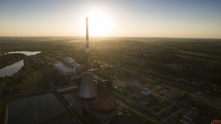Beautiful Chernobyl scenery shot from the drone