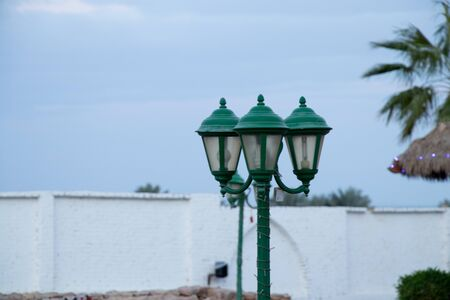street lamp in egypt on a sunny day