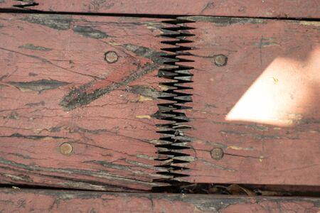 dirty wooden board as a closeup background Foto de archivo