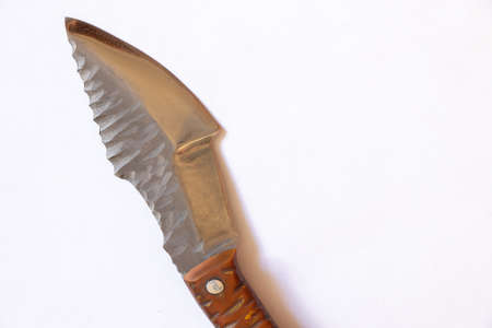 close up knife with a handle on an isolated background