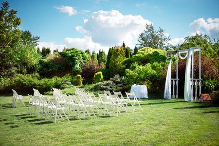 Wedding set up. Stockfoto