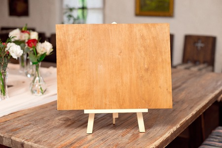 Decorative Message Board Easel with empty plain space for text