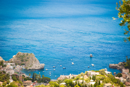 Sicilia Taormina Stock Photo