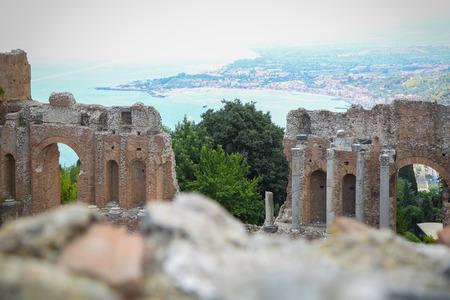 Sicilia Taormina Teatro Greco(Greek) Stock Photo - 85435554