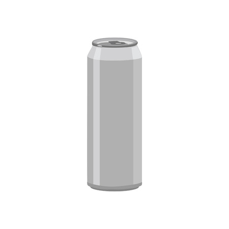 Illustration of aluminum can, soda can, beer can