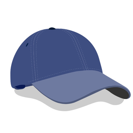 hat with visor: Illustration of cap, baseball cap, baseball cap vector, baseball cap isolated, baseball hat