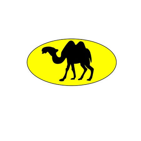camel silhouette: Illustration of camel, camel isolated, camel silhouette, camel vector Illustration