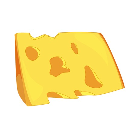 parmesan: Illustration of cheese sllice, cheese isolated