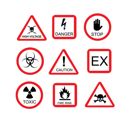 danger sign: Illustration of danger sign, risk, dangerous situation,  warning sign