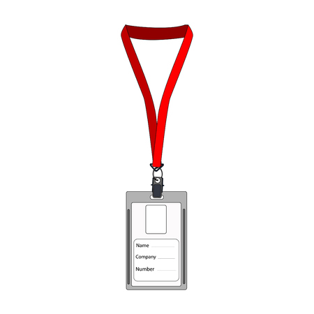 access card: Illustration of  badge, employee badge, employee card, employee id, work badge, name badge
