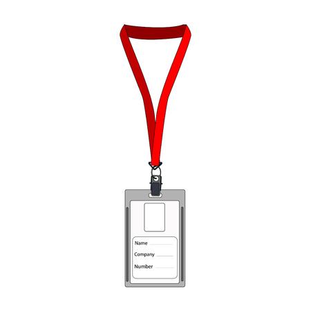 id badge: Illustration of  badge, employee badge, employee card, employee id, work badge, name badge