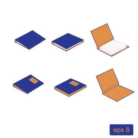 Illustration of blocks, note, notebook, notepad, paper, block notes vector Vector