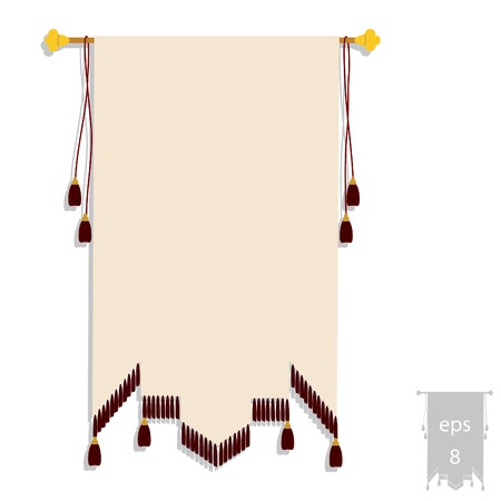 Illustration of heraldic banner, heraldic emblem, heraldic