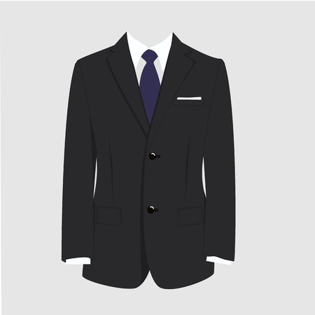 tailored: Illustration of  man suit, tie, business suit,  man in suit