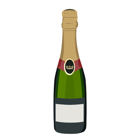 bottle of champagne: Champagne bottle, champagne bottle isolated, champagne vector Illustration