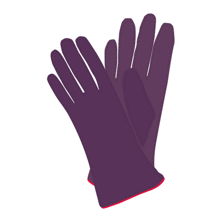 winter gloves: Winter gloves, leather gloves, gloves isolated Illustration