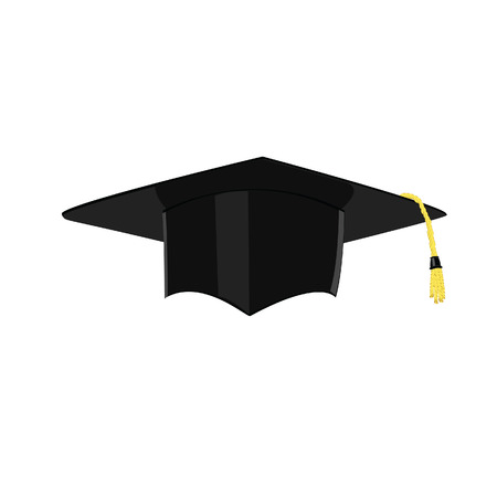Graduation, chapeau obtention du diplôme, graduation cap icône