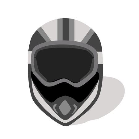 motorradhelm: Illustration von Helm, Fahrradhelm, Motorradhelm