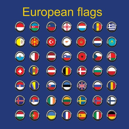 Illustration of european country flags Vector