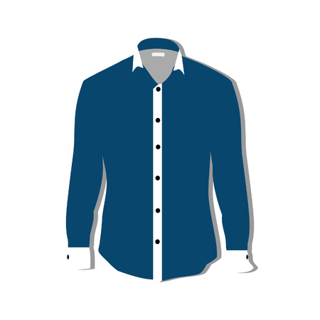 formal shirt: Illustration of  t-shirt,  clothes,  man shirt, formal shirt,  blue shirt,  shirt template