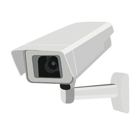 Illustratie van de bewakingscamera, camera geïsoleerd, camera vector Stock Illustratie