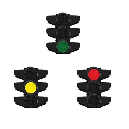 highway traffic: Traffic, traffic signs, traffic signal, traffic light isolated