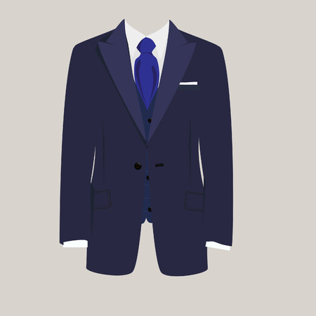 Illustration of  man suit, tie, business suit,  business, mens suit, man in suit Vector