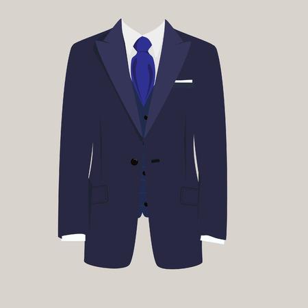 Ilustracja mężczyzny garnitur, krawat garnitur, biznes, męskie garnitur, człowiek w garniturze Ilustracje wektorowe