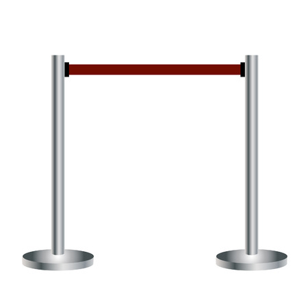 rope barrier: Barrier, barrier vector, barrier chrome, barrier isolated