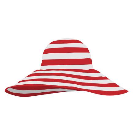 Strand hoed, hoed vector, geïsoleerd strand hoed Vector Illustratie