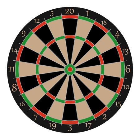 Dartboard, dartboard vector, dartboard isolated, professonal dartboard  イラスト・ベクター素材