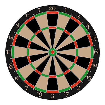 Dartboard, dartboard vector, dartboard isolated, professonal dartboard Illustration