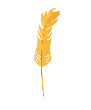 feather vector: Feather isolated, feather vector, feather yellow, feather