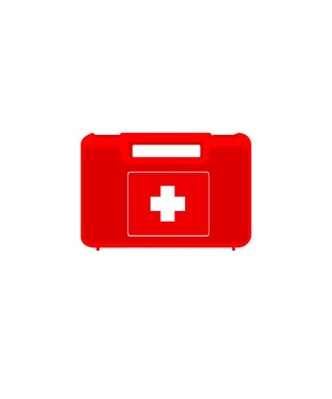 medical emergency service: First aid,  first aid box,  first aid kit isolated Illustration