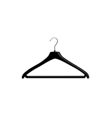 laundry hanger: Ilustraci�n de la percha, percha, percha de ropa, Vectores