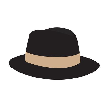 페도라 모자, 페도라 모자 벡터, 페도라 모자 격리, 모자, 모자 일러스트