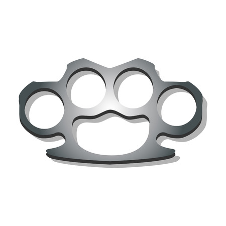 knuckles: Illustration of knuckles, brass knuckles, knuckles vector