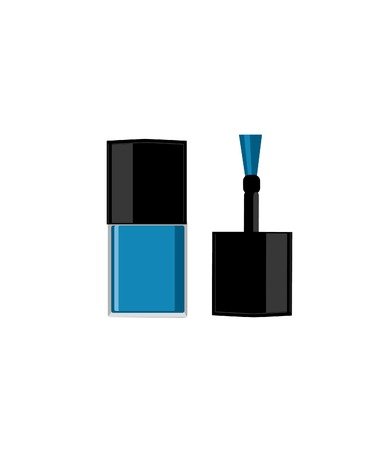 nailpolish: Nail polish bottle, nail polish vector, nail polish isolated