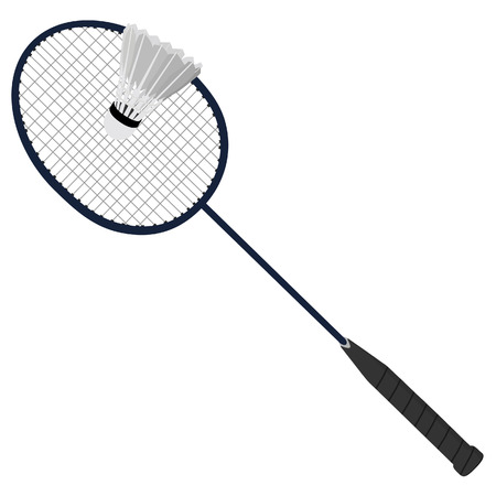 badminton racket: Badminton racket, shuttlecock, sport equipment, badminton set Illustration