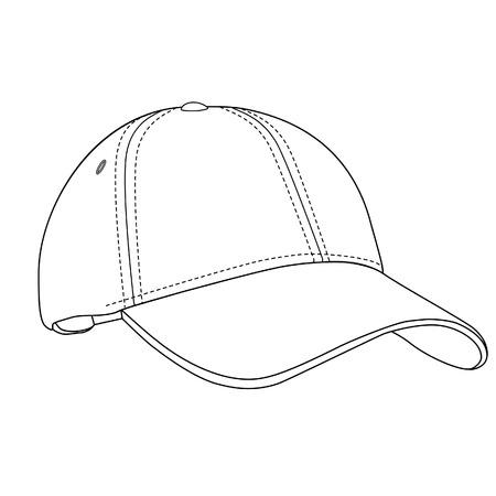 Gorra de béisbol, gorra de béisbol aislado, gorra de béisbol vector Foto de archivo - 37649536
