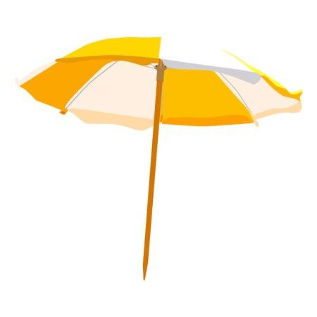 Parasol, parapluie de plage isolée, parasol vecteur