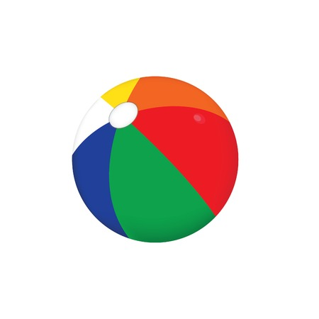 Beach ball, beach ball isolated, beach ball vector