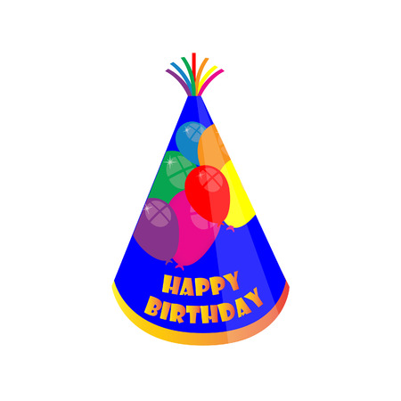 new year's cap: Birthday hat, party hat, birthday hat isolated, party hat isolated Illustration
