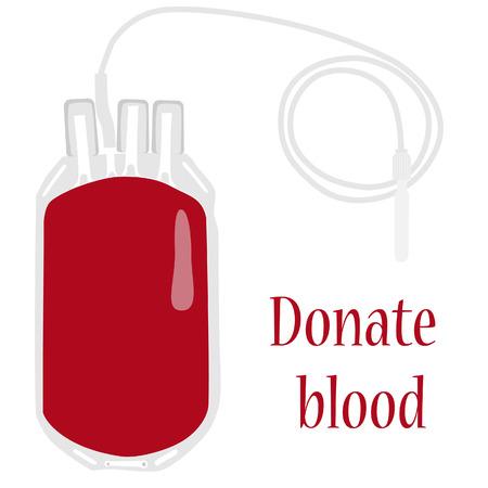 血液バッグ、献血、血液 tranfusio、医学  イラスト・ベクター素材