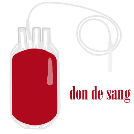 Blood bag, blood donation, blood tranfusion, medicine Vector