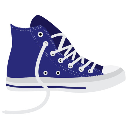 walking shoes: Blue sneakers, running shoes, sneakers isolated, walking shoes