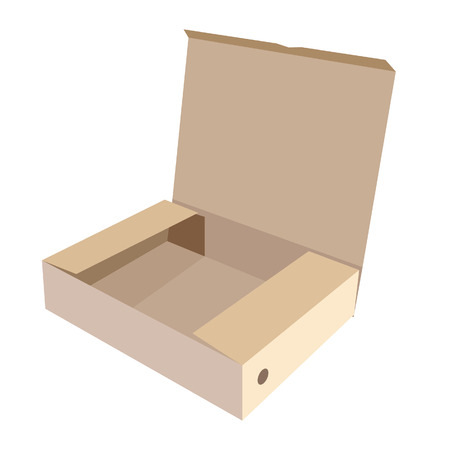 software box: Brown box, cardboard box, software box, carton box, opened box