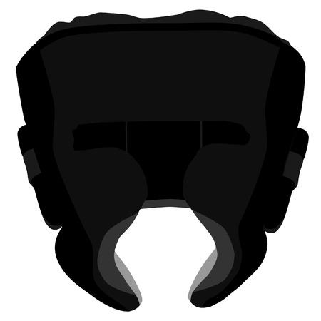 Boximg helmet, boxing helmet vector, black boxing helmet, boxing helmet isolated